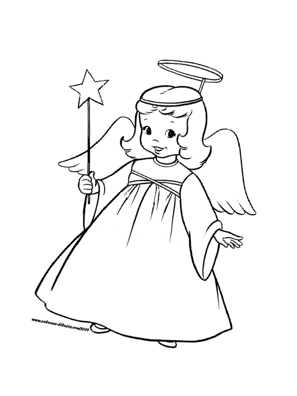 Ausmalbild Engel Weihnachten