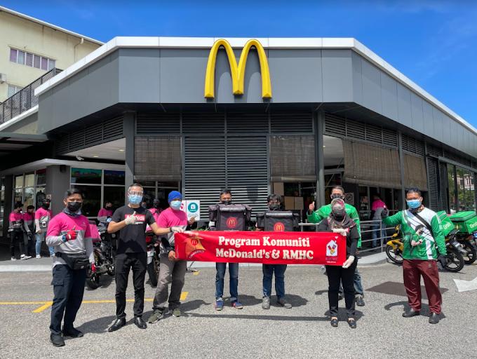#LekLuMcDBelanja: McDonald's Malaysia Rai 65,000 Penghantar Makanan
