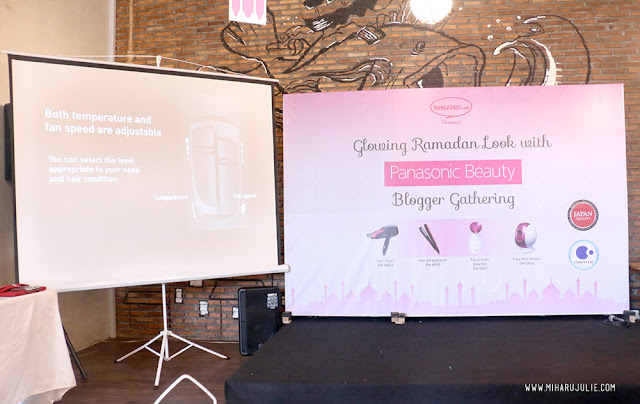 Glowing Ramadhan Look with Panasonic Beauty blogger gathering