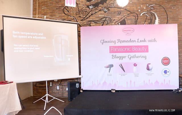 Glowing Ramadhan Look with Panasonic Beauty blogger gathering