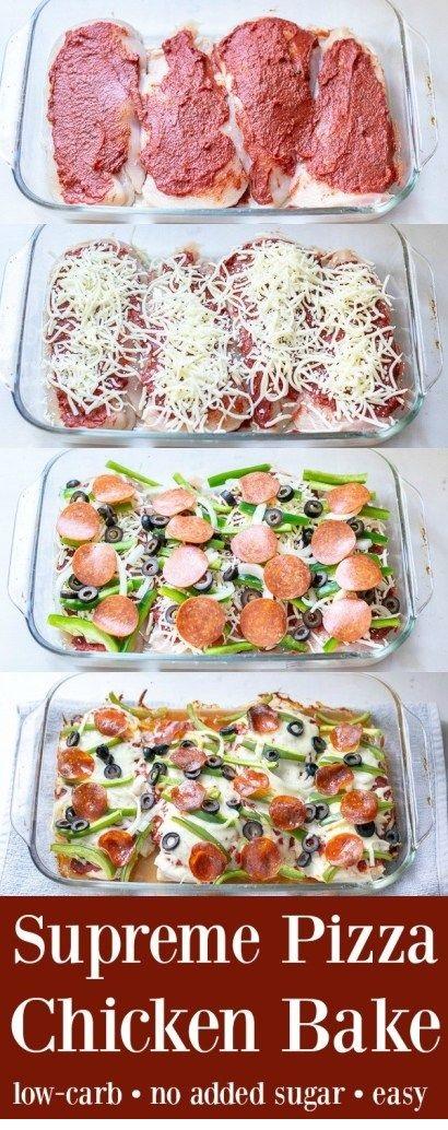 Supreme Pizza Chicken Bake Recipe Low Carb