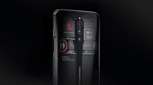 nubia Red Magic 5G will have a Transparent Edition, that shows the fan spinning.