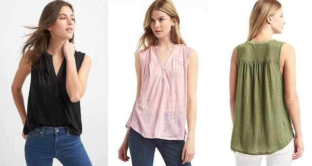 Gap Linen Split-Neck Tank $14 (reg $30)