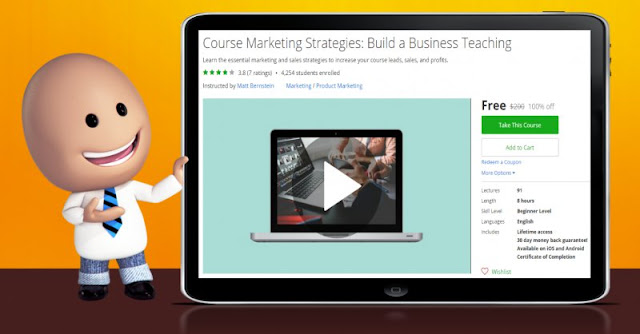 [100% Off] Course Marketing Strategies: Build a Business Teaching| Worth 200$