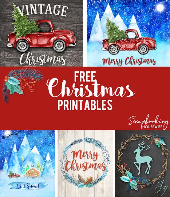 Free Christmas Wall Art Printables
