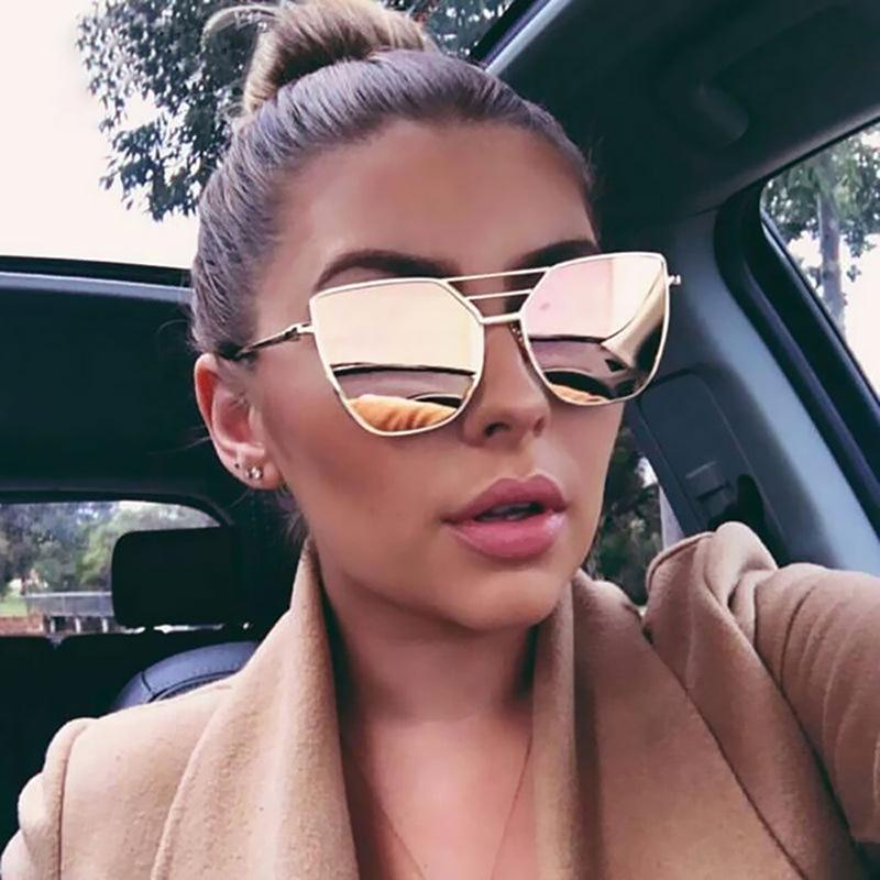 Stylish Irregular Lens Metal Frame Sunglasses