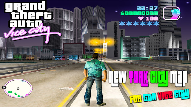 GTA Vice City New York City Map Near Ocean Mod