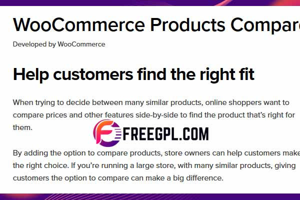 WooCommerce Products Compare Free Download
