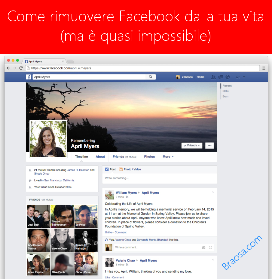 Come eliminare Facebook dalla tua vita quasi definitivamente