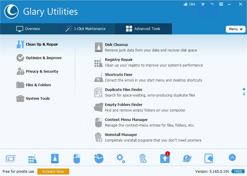 Glary Utilities 5.165.0.191
