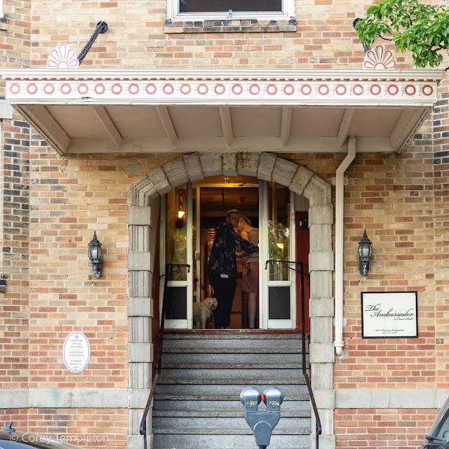 Portland, Maine USA The Ambassador Apartment Building on Casco Street