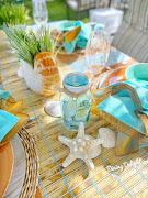 Backyard Beach Themed Tablescape