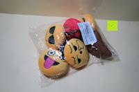 """Verpackung: Smakey®2""""mini Emoji Gesicht Express Plüsch Spielzeug Schlüssel Kette Tasche Zubehör Satz von 7"""