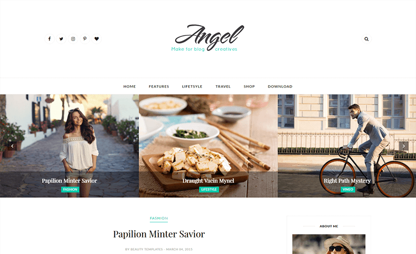 Angel blogger template free download in XML format