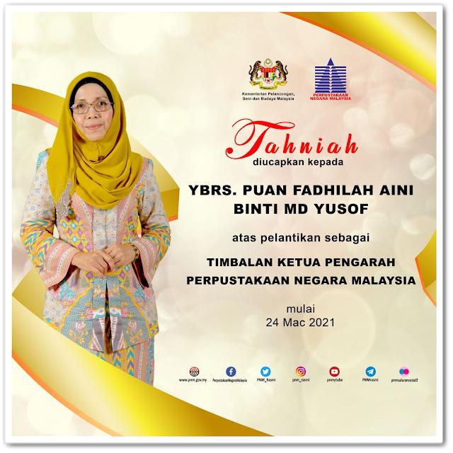 Timbalan Ketua Pengarah Perpustakaan Negara Malaysia yang baharu