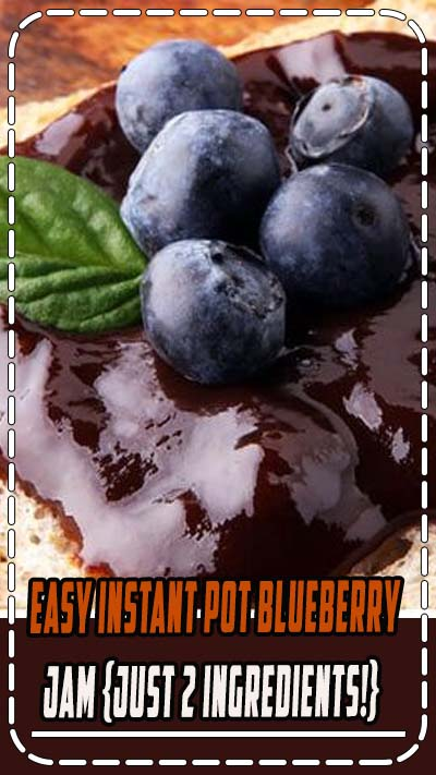 Want to learn how to make easy, small batch, honey sweetened blueberry jam in the instant pot? This recipe is extra healthy, relatively low sugar, can be stored in the freezer and requires no canning, no pectin and no crockpot or stove top! Plus, it's only two ingredients and is ready in less than an hour! #blueberryjam #instantpot #healthy #honey #lowsugar #nopectin #easy #tradcookschool