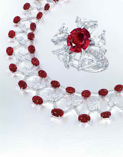 Etcetera Ruby and Diamond Necklace and Ring