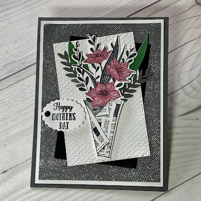 Mother's Day greeting card using Stampin' Up! Wrapped Bouquet Stamp Set