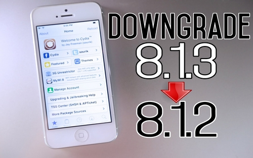 How To Downgrade From Ios 8.1.3 To 8.1.2