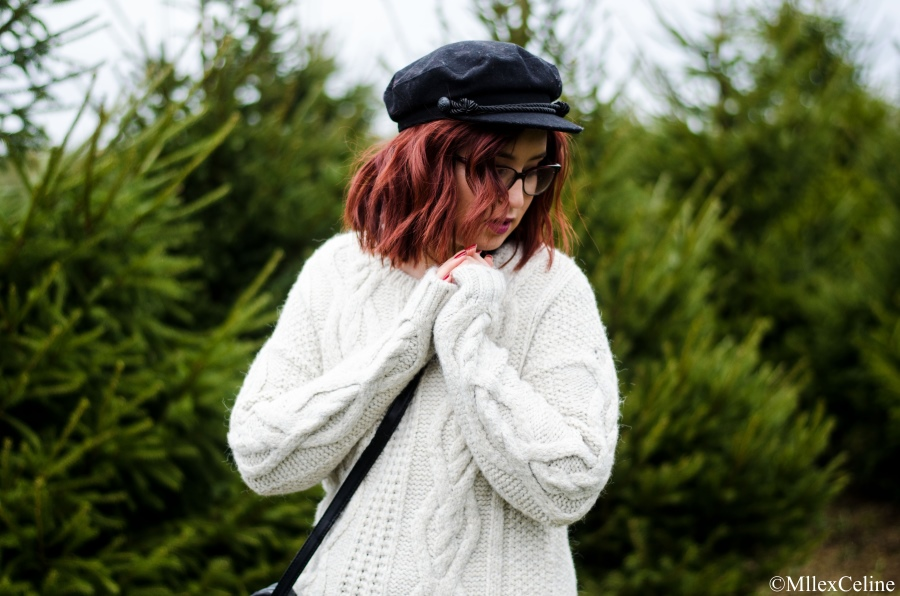 look hiver pull fluffy kiabi gavroche primark sapin blog mode beaute lifestyle lyon