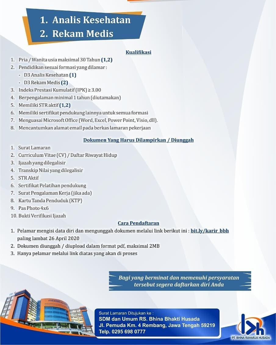rs bhina bhakti husada - lowongan rembang