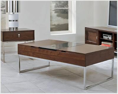 COSTCO COFFEE TABLE; Costco Elevator Top Coffee Table;