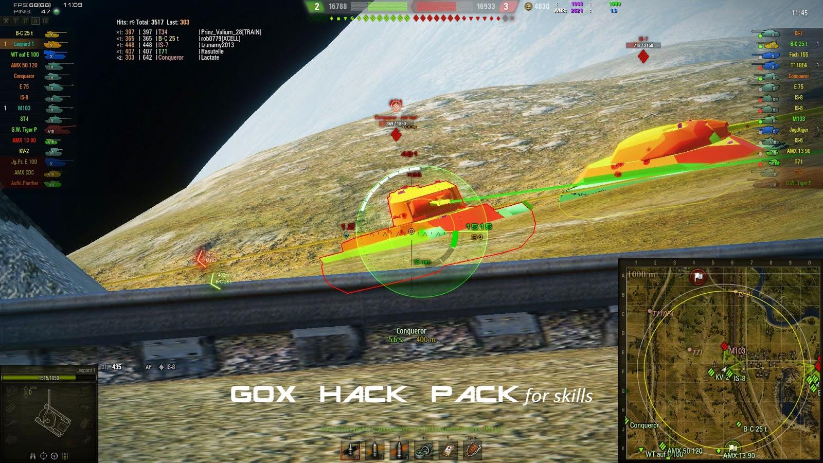 WarGaming-mods: WoT 9.14 Gox Hack Pack for skills v0.49