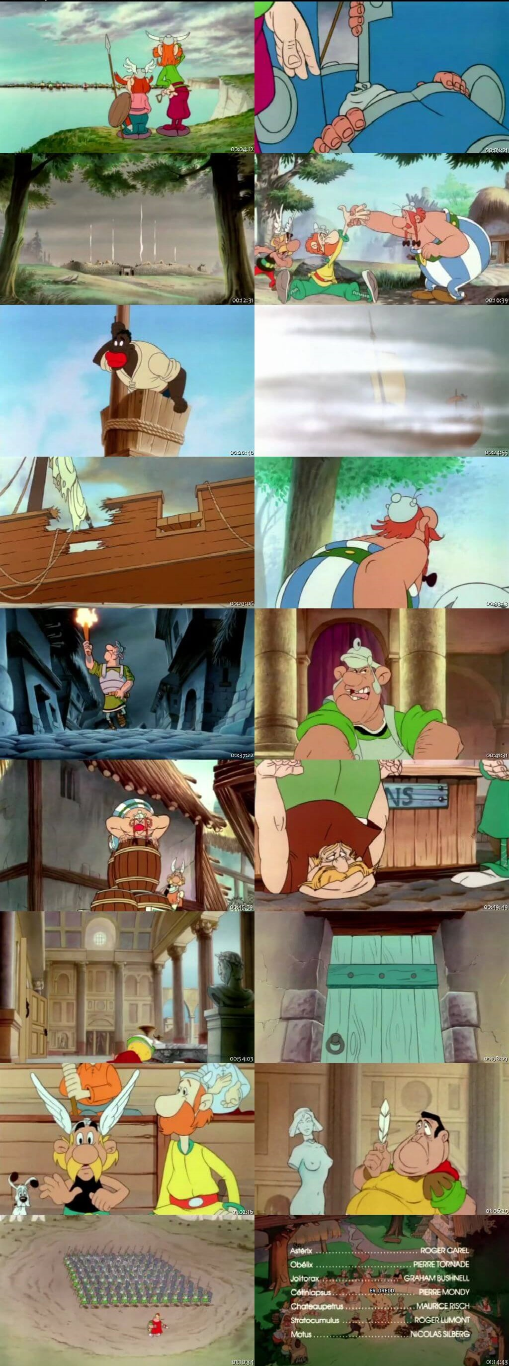 Screen Shot Of Asterix in Britain 1986 300MB Full Movie Hindi Dubbed Free Download 480P BRRip Small Size PC Movie