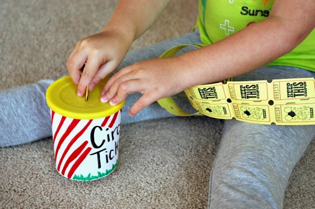 Circus Ticket Tearing Fine Motor Activity for Preschoolers