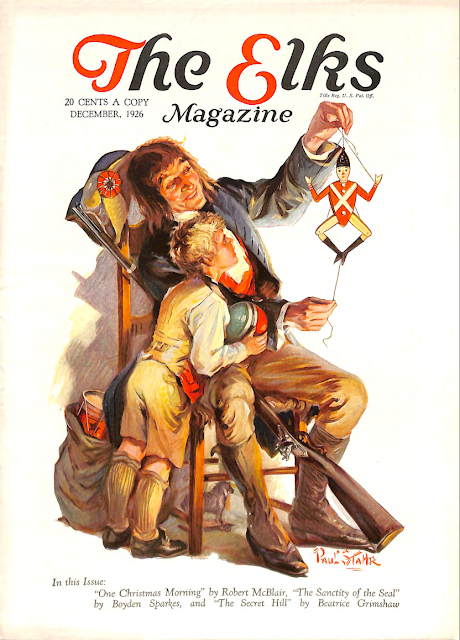 Cover by Paul Stahr for The Elks magazine 1926 December