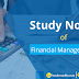 Financial Management Study Notes for Bank of India SO Exam 2018