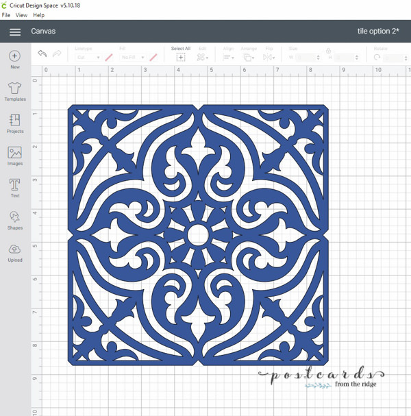 tile stencil design from Cricut
