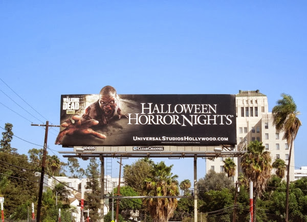 Halloween Horror Nights zombie special extension billboard