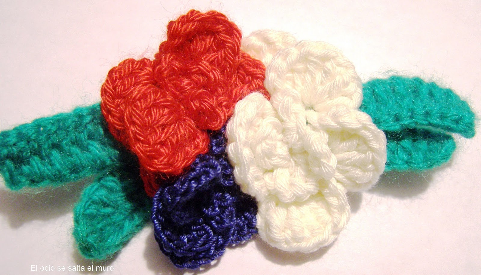 Carpeta En Espiral De Crochet Flores De Ganchillo Decoracin Con Flores De Ganchillo With Flores