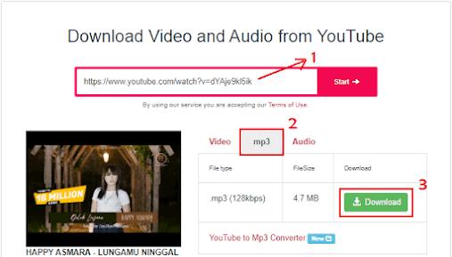 Cara download mp3 dari youtube - 2b
