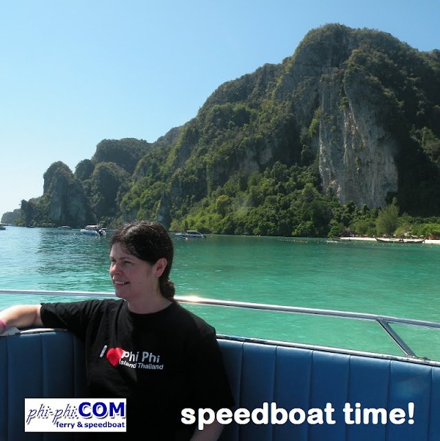 On the way to Maya Bay.. speedboat tour from Phi Phi