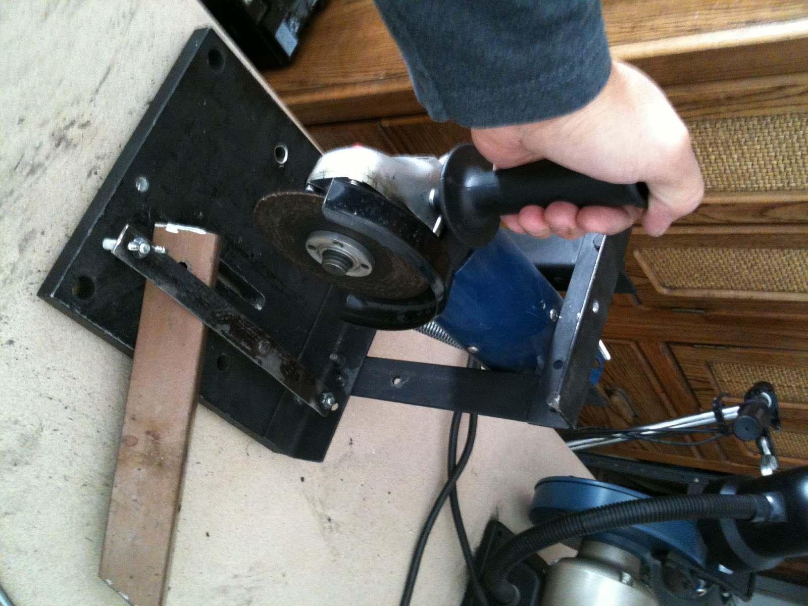 Practically Home Built Angle Grinder Stand