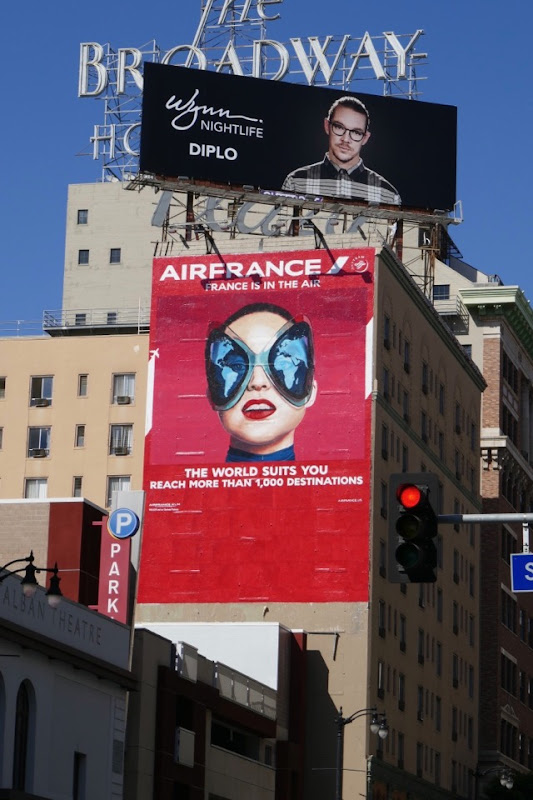 Air France world suits you billboard