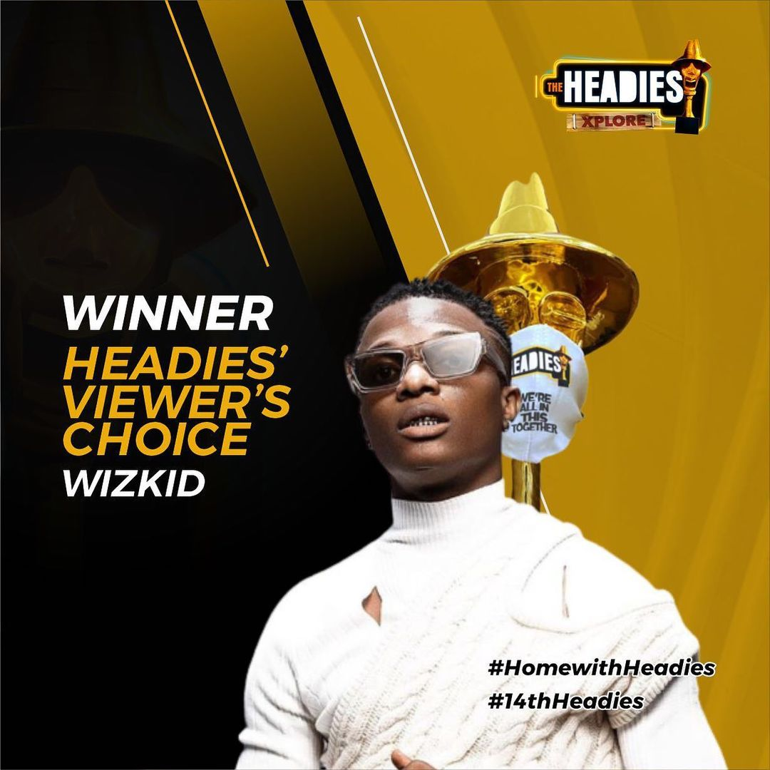 Wizkid Wins Artiste Of The Year At 2021 Headies Awards - Here's The Full  List Of Winners - TheGossipScoop.com