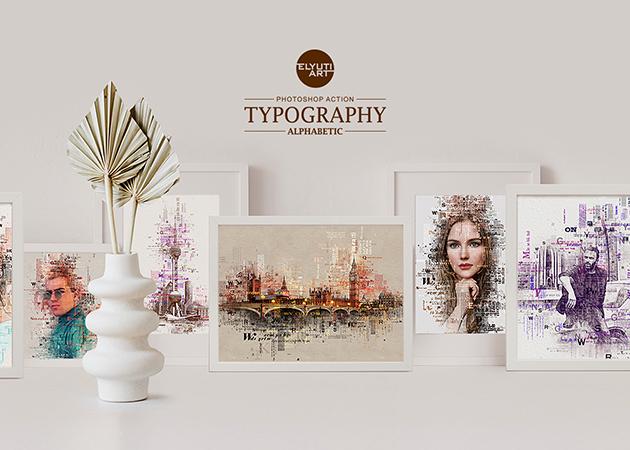 Typography (Alphabetic) Photoshop Action