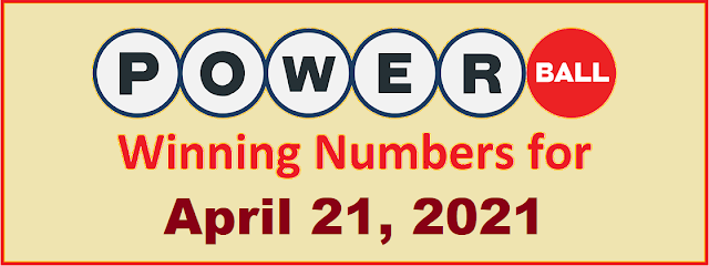 PowerBall Winning Numbers for Wednesday, April 21, 2021