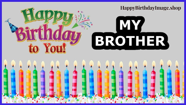 happy birthday brother cake with candle