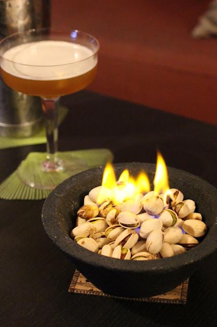 pistaches flambées raki