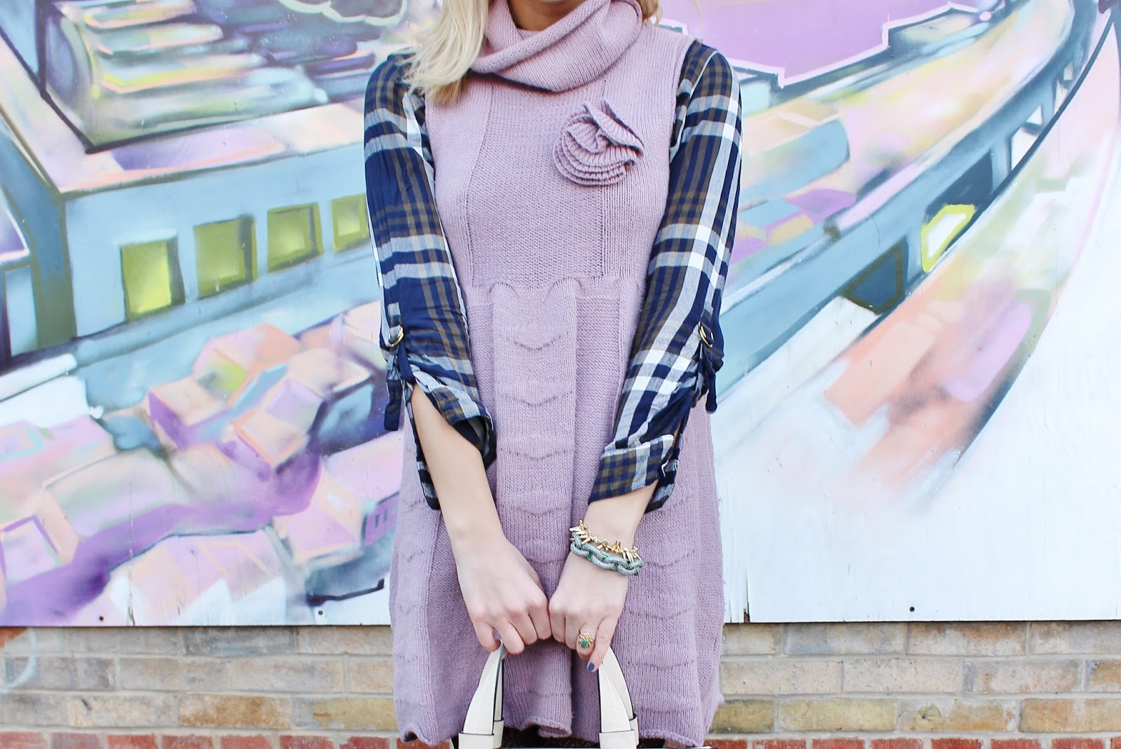 bijuleni - purple knit dress