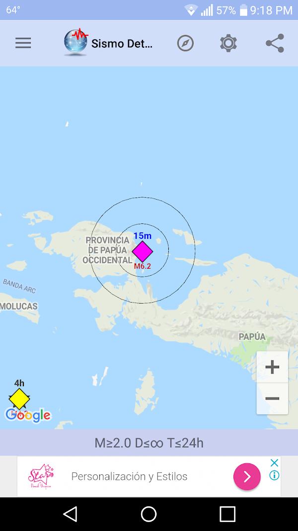 Sismo fuerte sacude las costas de papua new guinea.