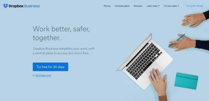 Dropbox business Cloud Storage Services