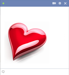 Glossy heart Facebook emoticon