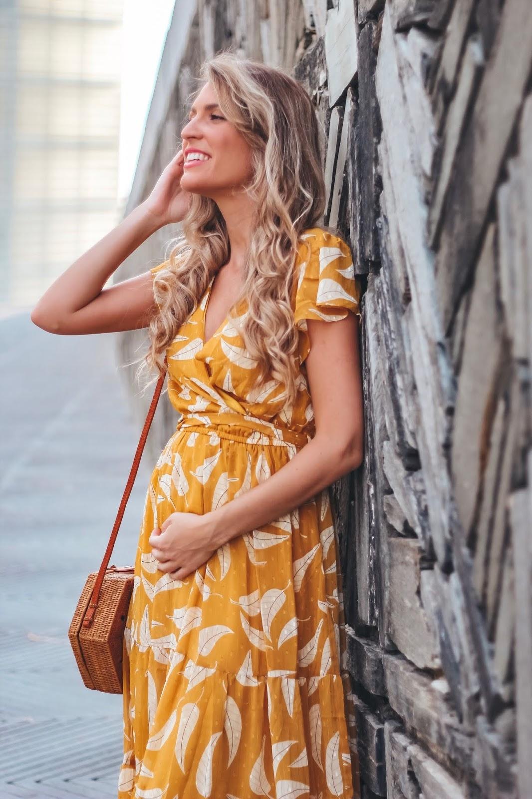 pregnant style midi dress