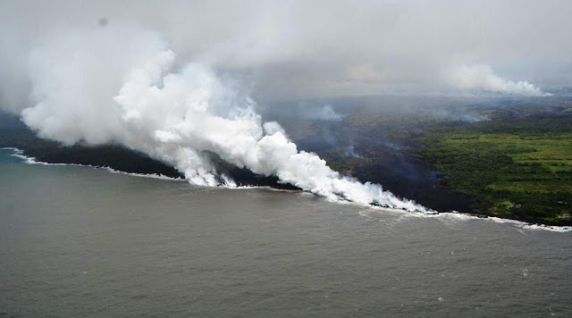Hawaii Lava Finally Reaches the Pacific - Only to Create Another Deadly Danger