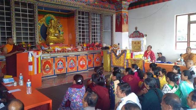 Buddhist seminar in labdah Gumba